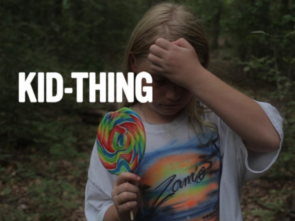 """KID-THING"" - a zellner bros. film's video poster"