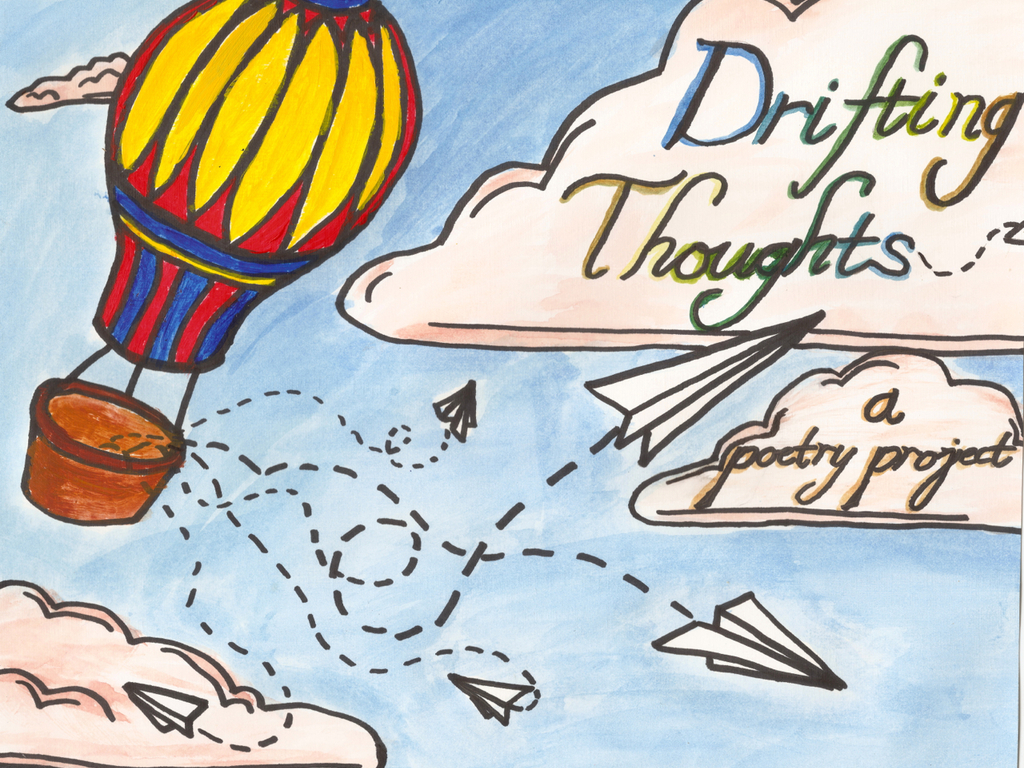 Drifting Thoughts: a poetry project's video poster