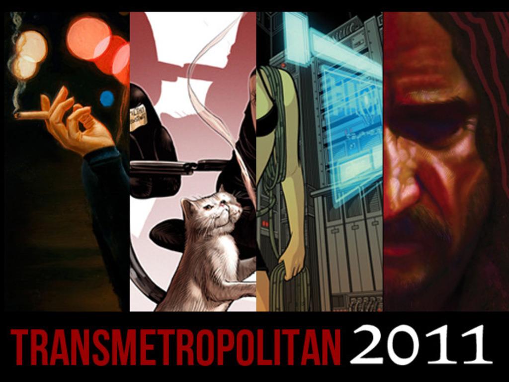 The TRANSMETROPOLITAN art book's video poster