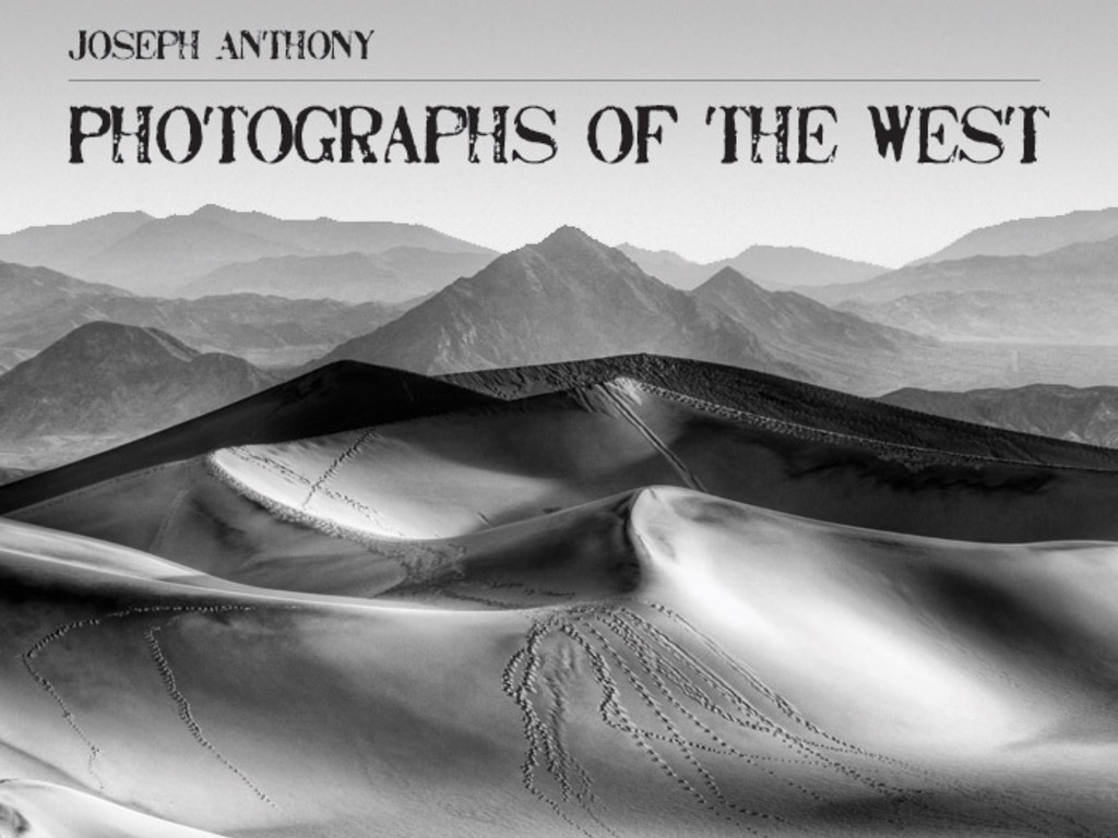 Joseph Anthony - Photographs of the West's video poster