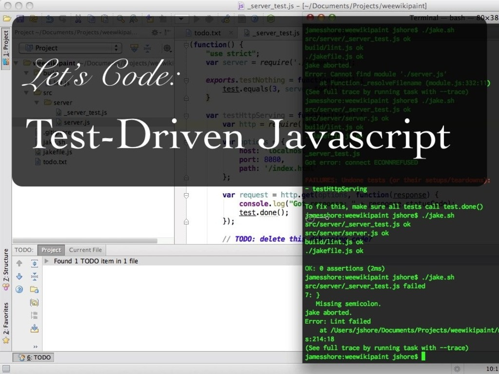 Let's Code: Test-Driven Javascript's video poster