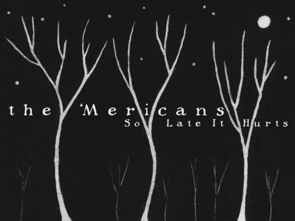 the 'Mericans 'So Late It Hurts' LP / CD Release Project's video poster