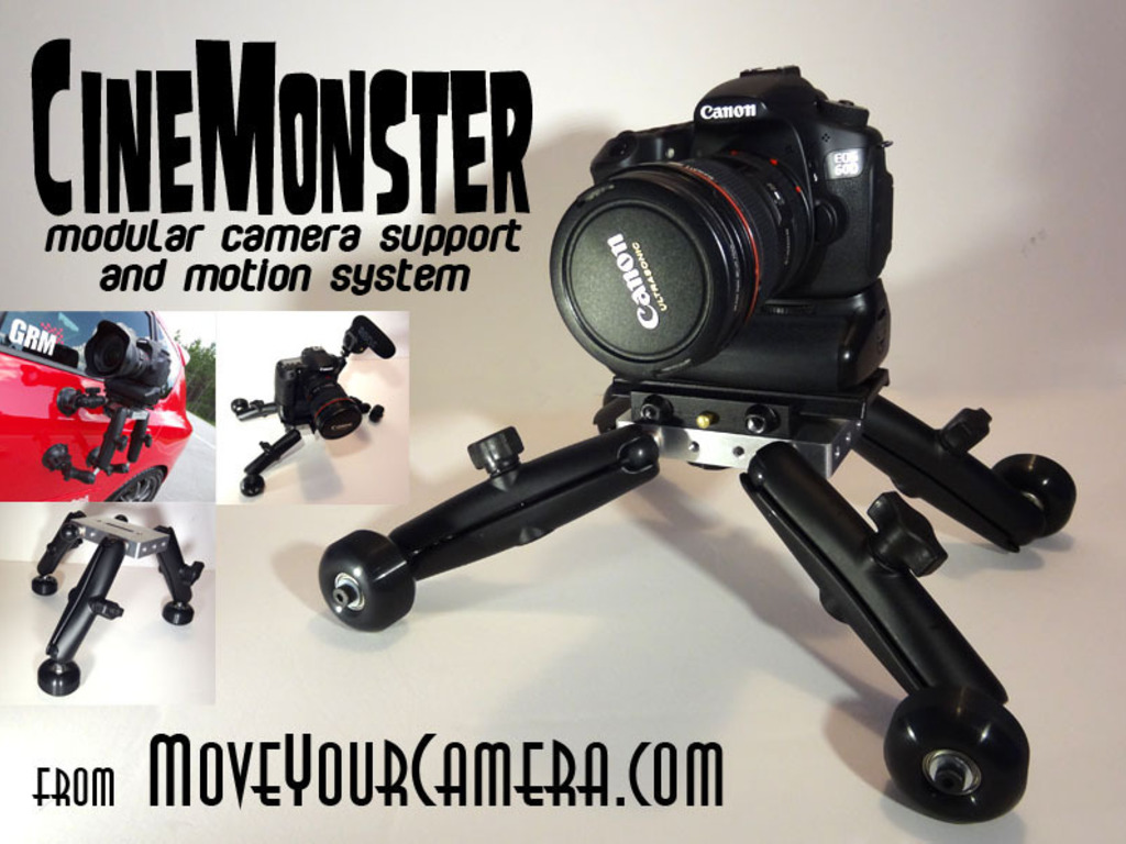 CineMonster modular camera support and dolly motion system's video poster
