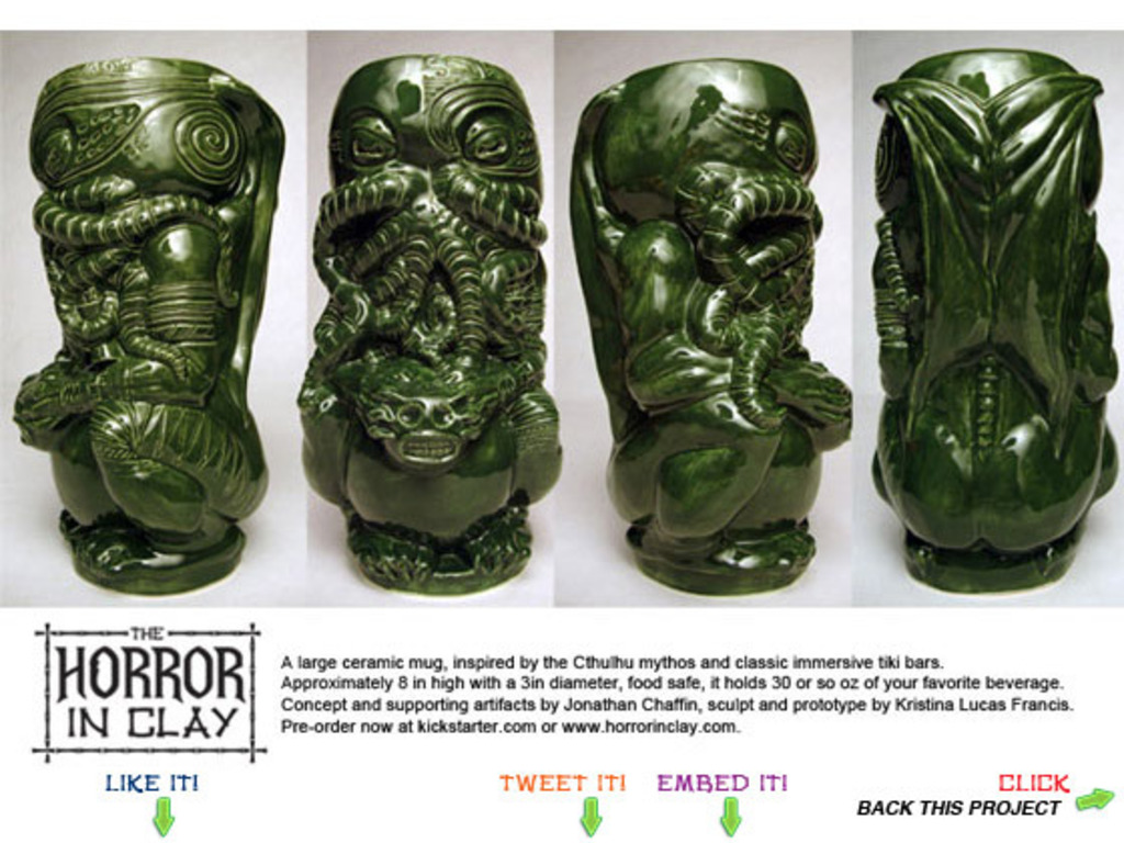 The Horror In Clay Cthulhu tiki mug production run's video poster