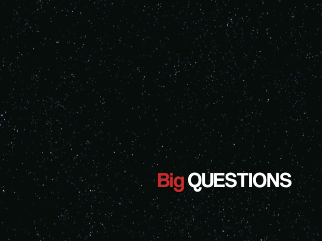 BIG QUESTIONS: A pilot for a web video series's video poster
