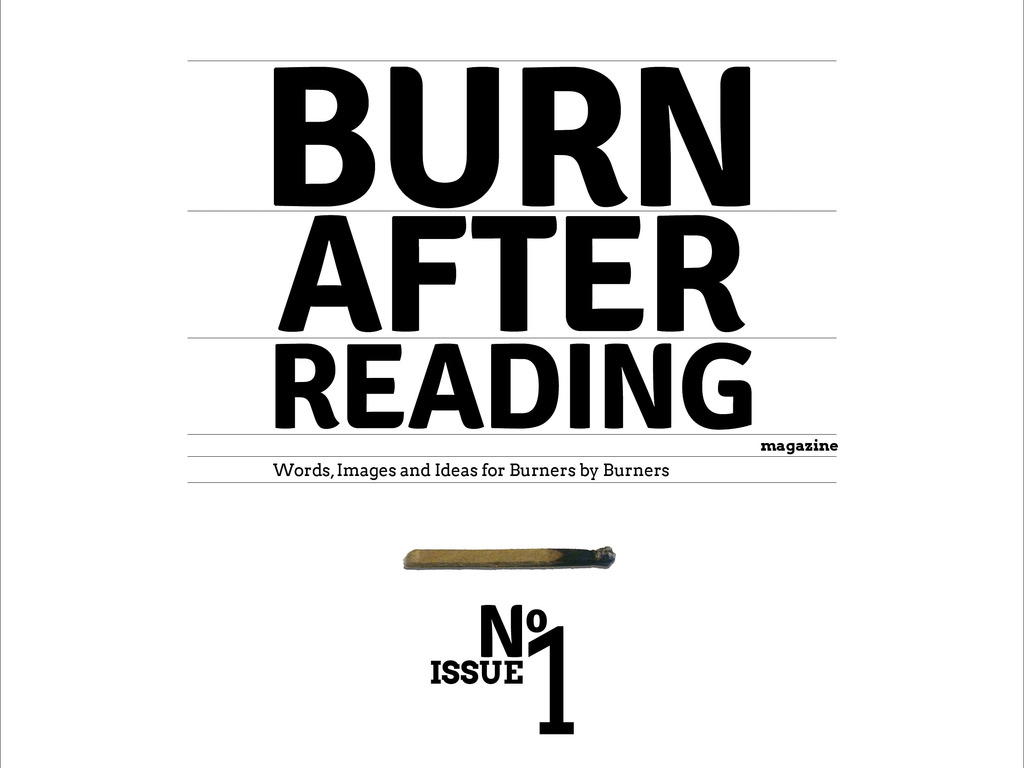 Burn After Reading Magazine, in Print, at Burning Man 2012!'s video poster