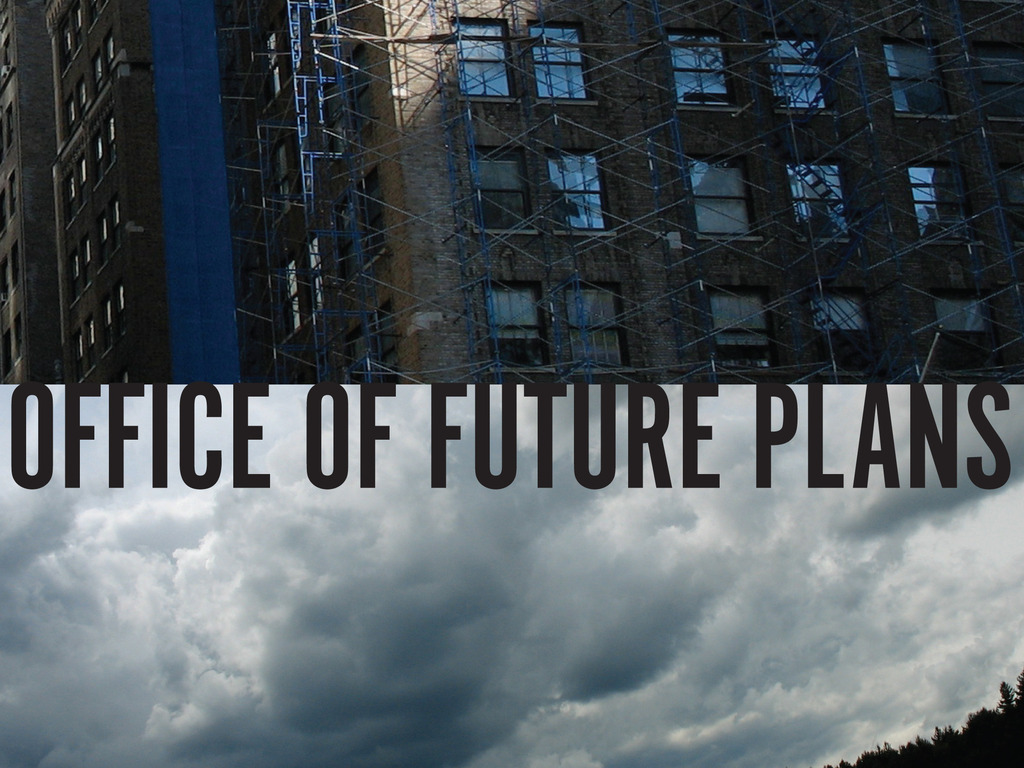 """Office of Future Plans - pre-order the debut 7"""" single's video poster"""