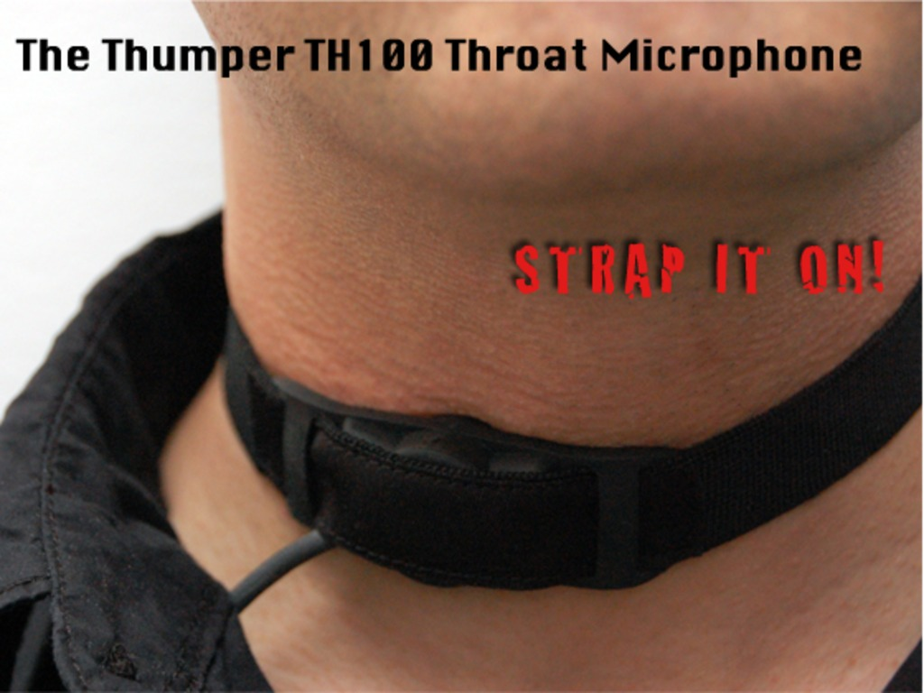 The Thumper TH100 - Throat Microphone's video poster