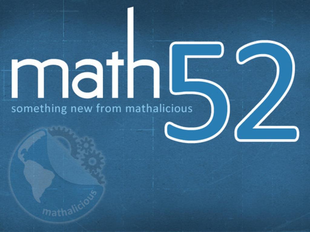 Math52: A Fresh Way to Teach's video poster