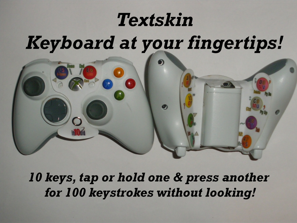 """Textskin"" Game Controller Keyboard at your Fingertips!'s video poster"