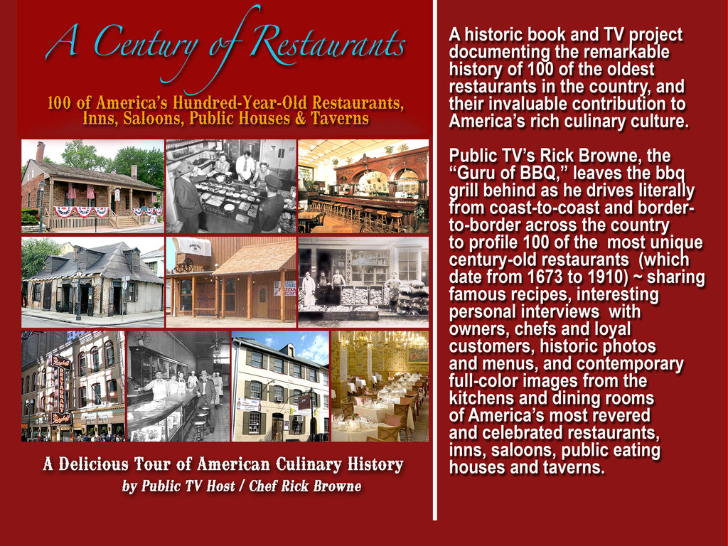 HISTORIC BOOK /TV SERIES VISITING THE VERY BEST OF AMERICA'S 100-YR-OLD+ RESTAURANTS! (Canceled)'s video poster