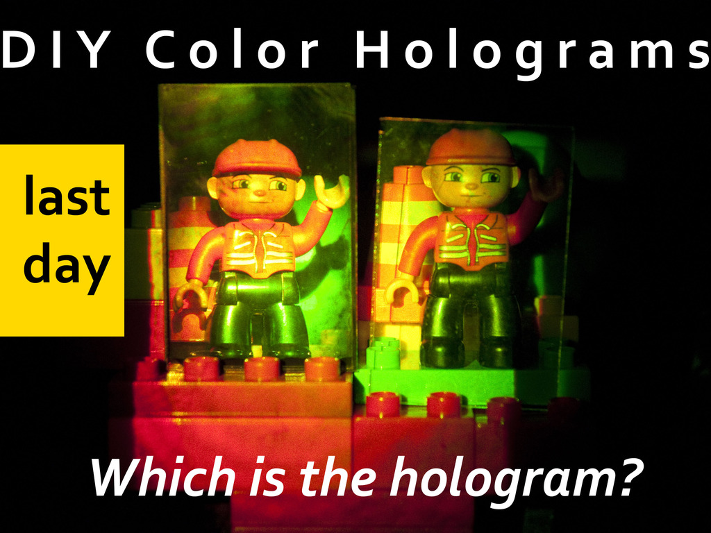 DIY Full-Color Hologram Kit from Litiholo's video poster