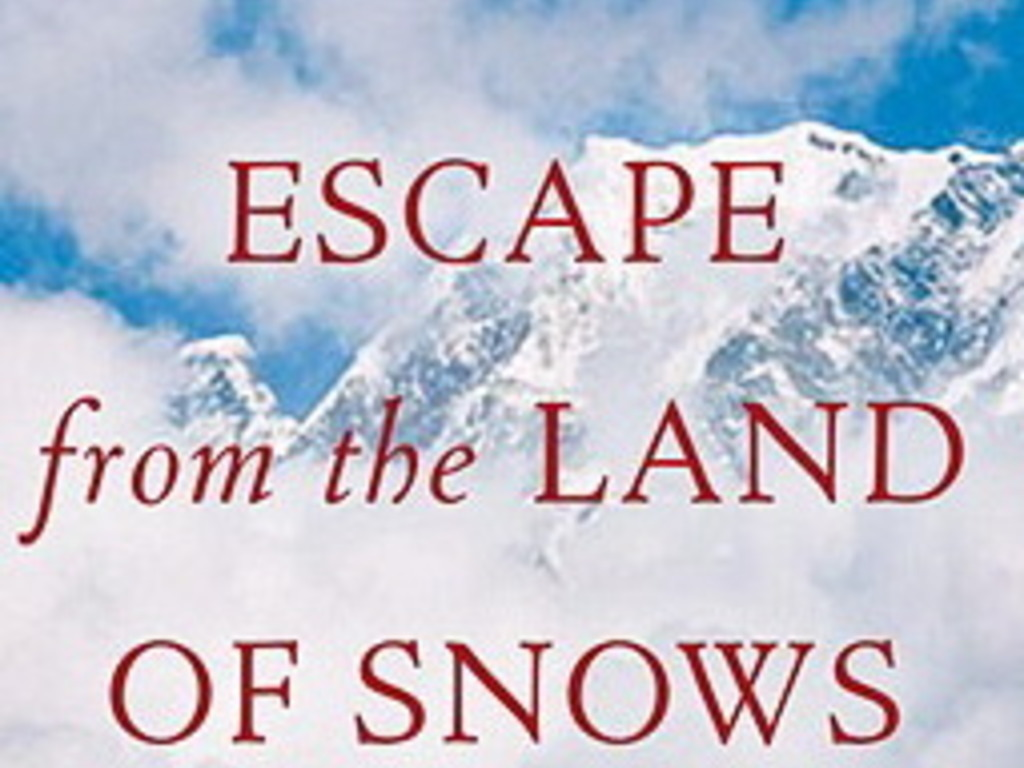 Escape from The Land of the Snows the movie's video poster