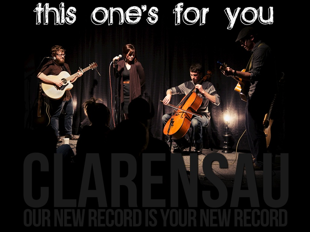 This One's For You - the new Clarensau record's video poster