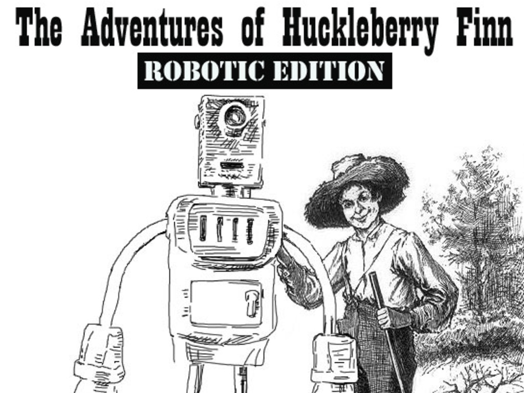 "Replacing the ""N-word"" with ""Robot"" in Huck Finn's video poster"