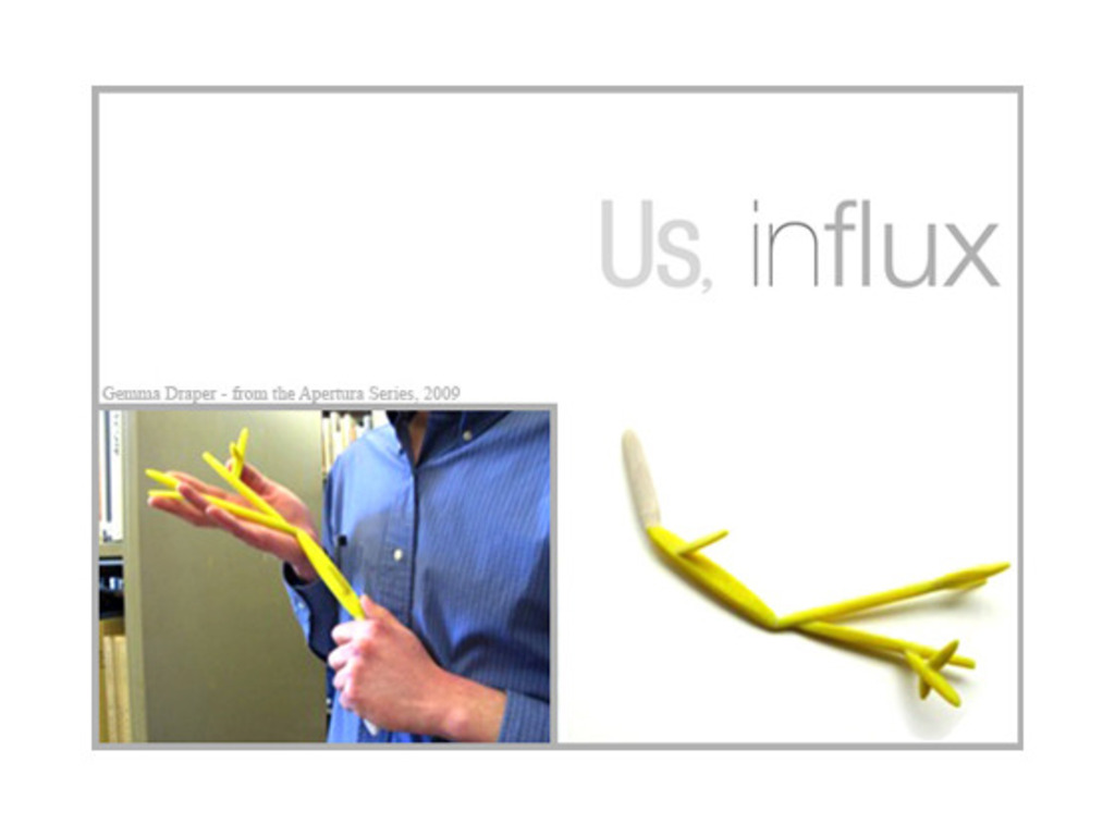 Us, in flux: exhibition catalogue's video poster
