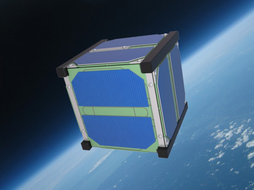 SkyCube: The First Satellite Launched by You!'s video poster