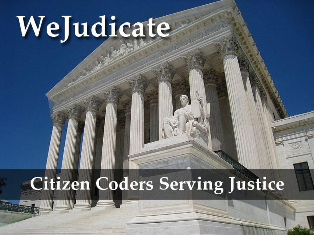 WeJudicate: Citizen Coders Serving Justice's video poster