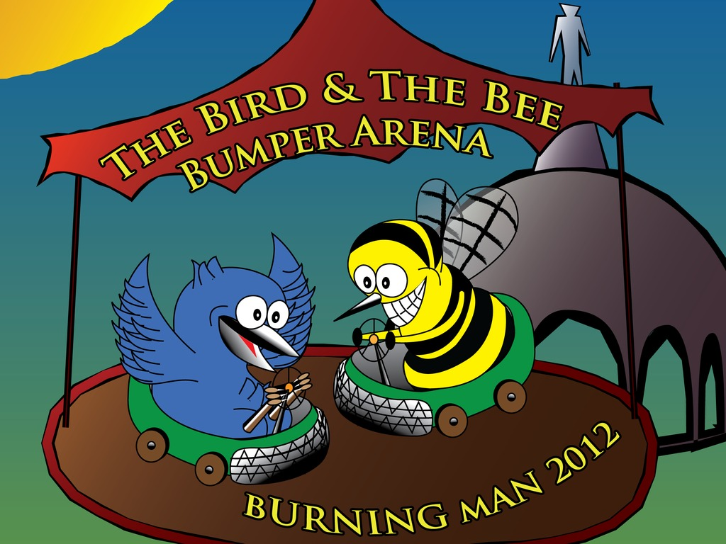 The Bird & The Bee Bumper Arena @ Burning Man 2012's video poster