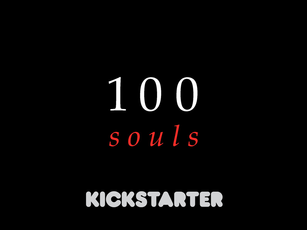 100 SOULS project, an art book from Steven Russell Black's video poster