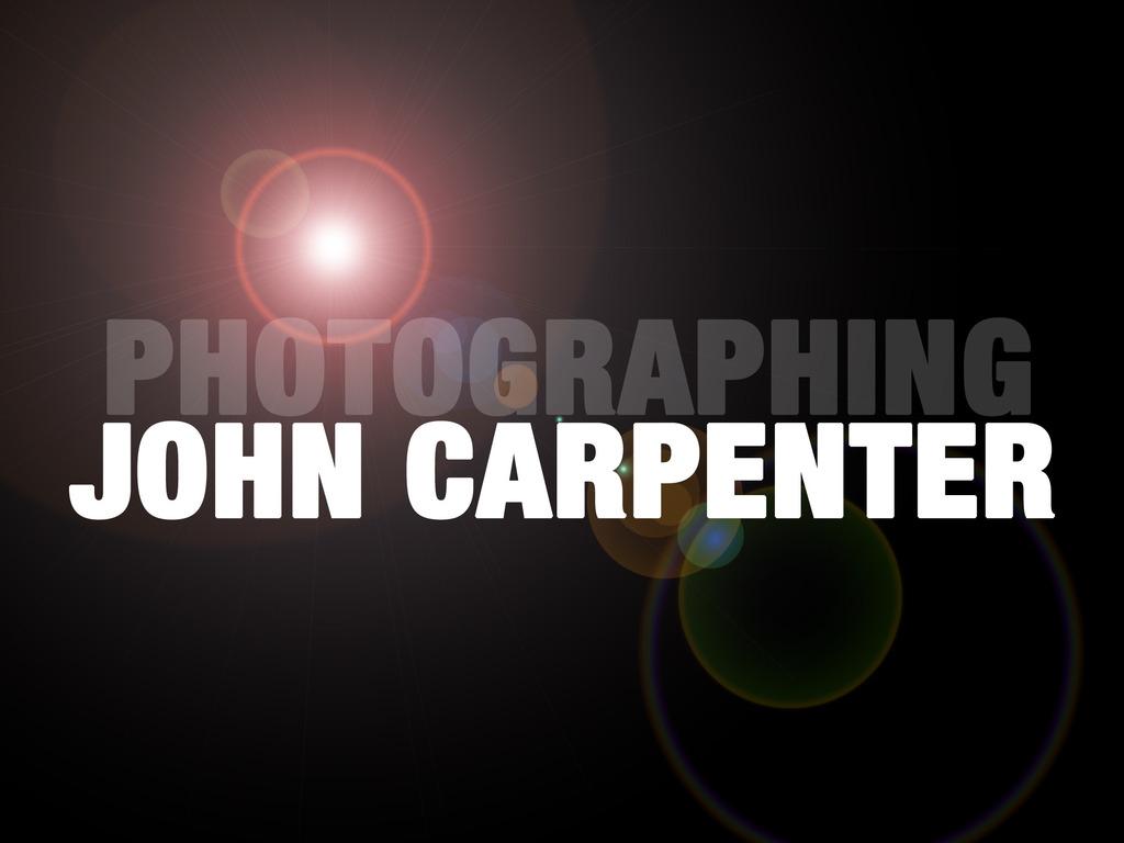Photographing John Carpenter's video poster