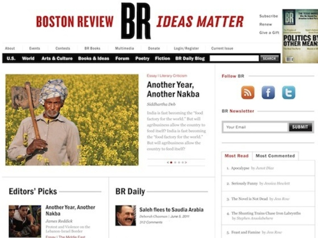 New Boston Review Web Site's video poster