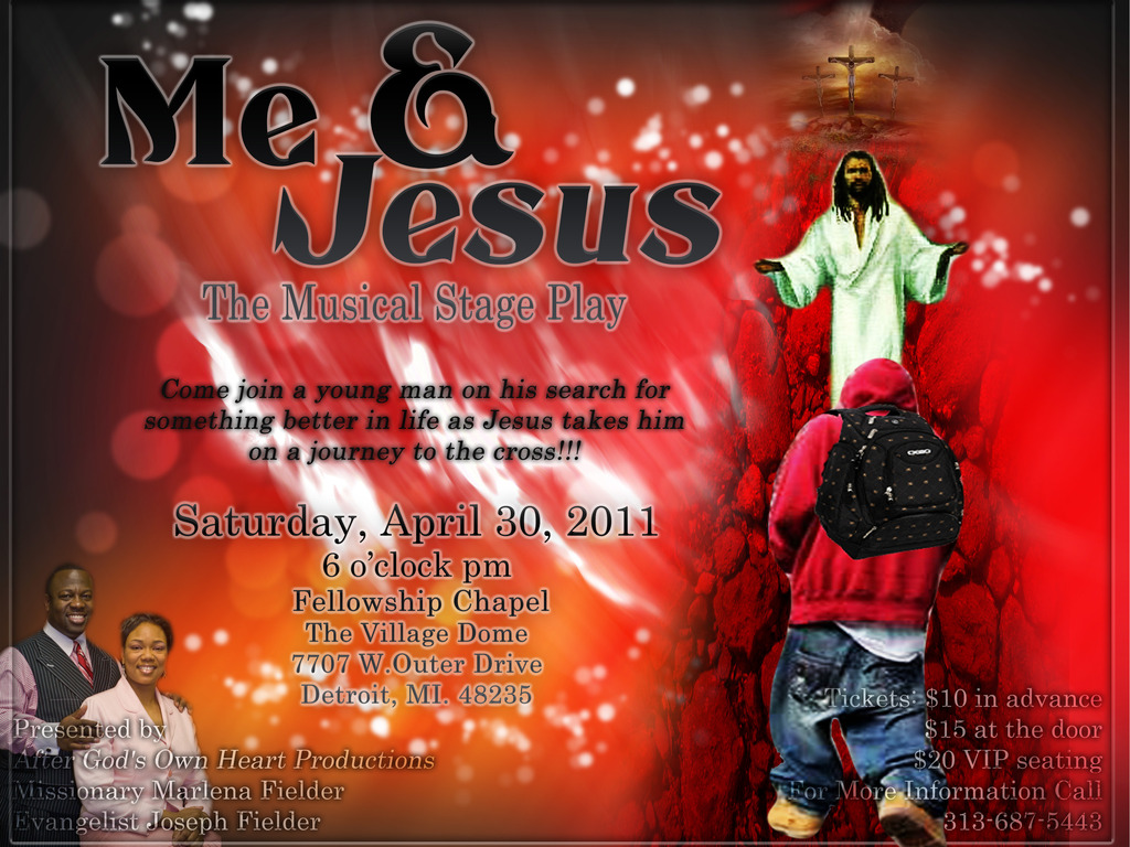 """""""Me and Jesus"""" a Gospel Musical Stage Play's video poster"""
