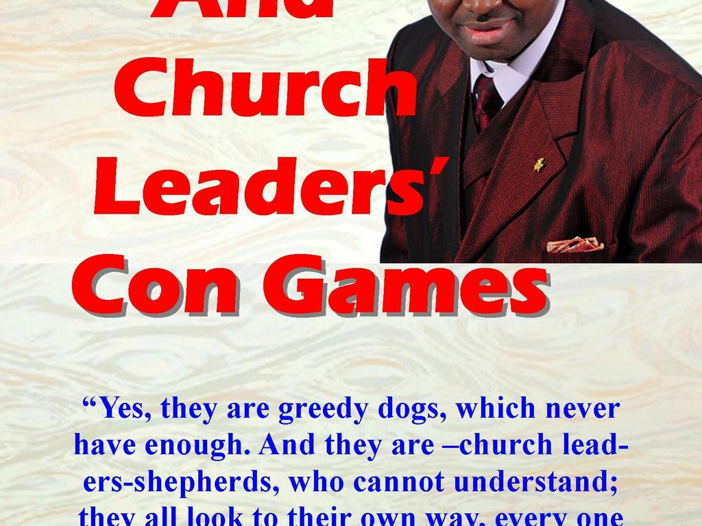 PASTORS' AND CHURCH LEADERS' CON GAMES's video poster