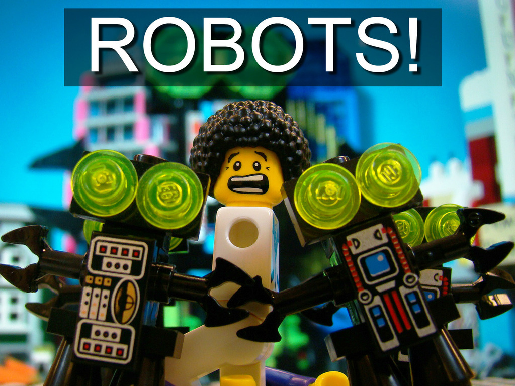 """Robots!"" -- A stop motion animation using LEGO bricks's video poster"