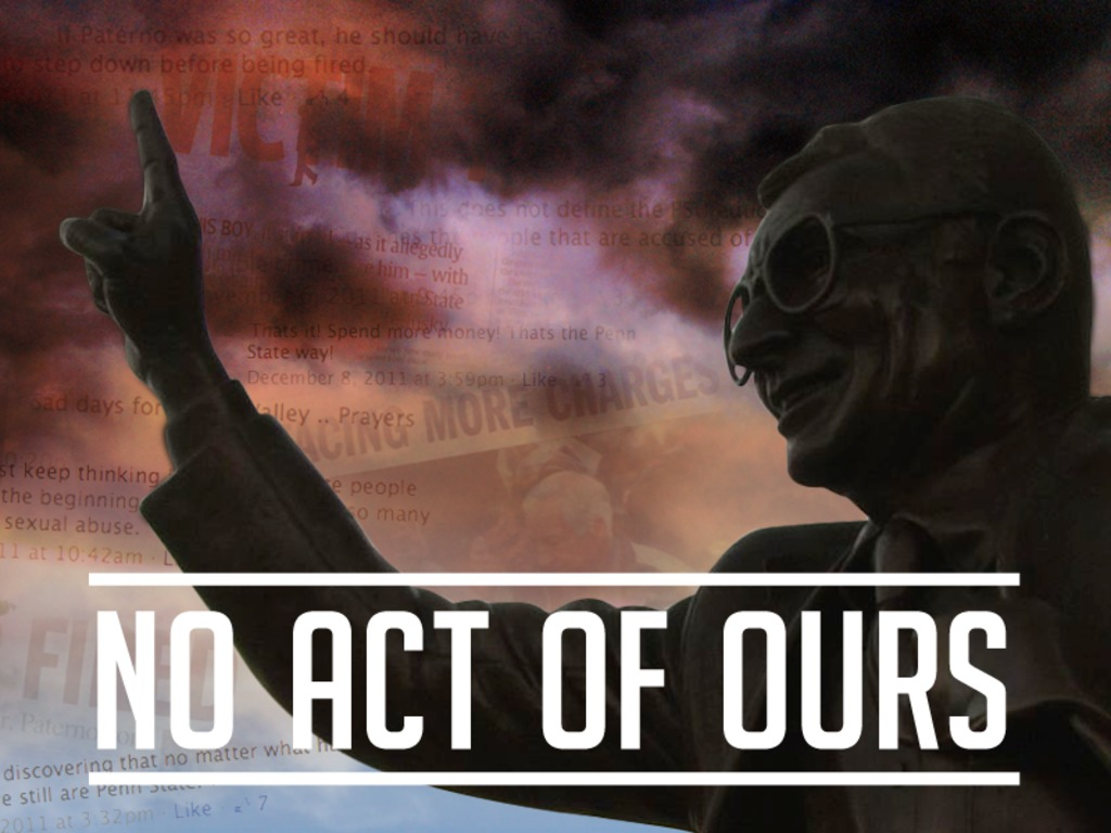 No Act of Ours Film's video poster