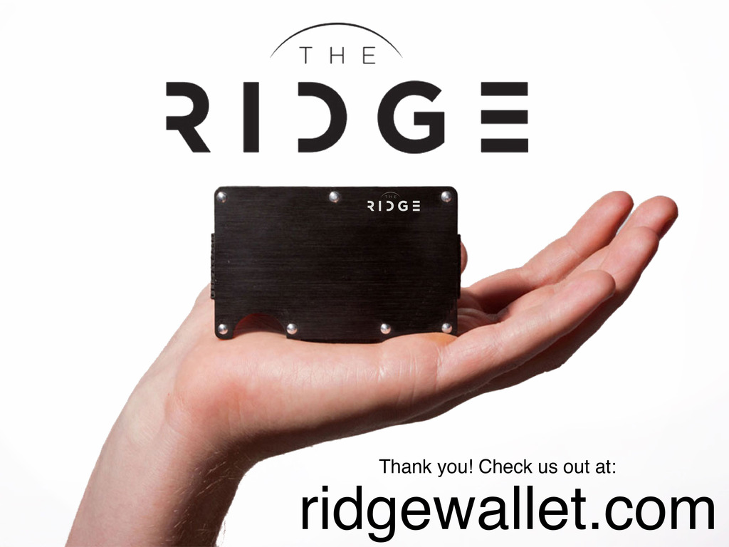 The Ridge: Front Pocket Wallet's video poster