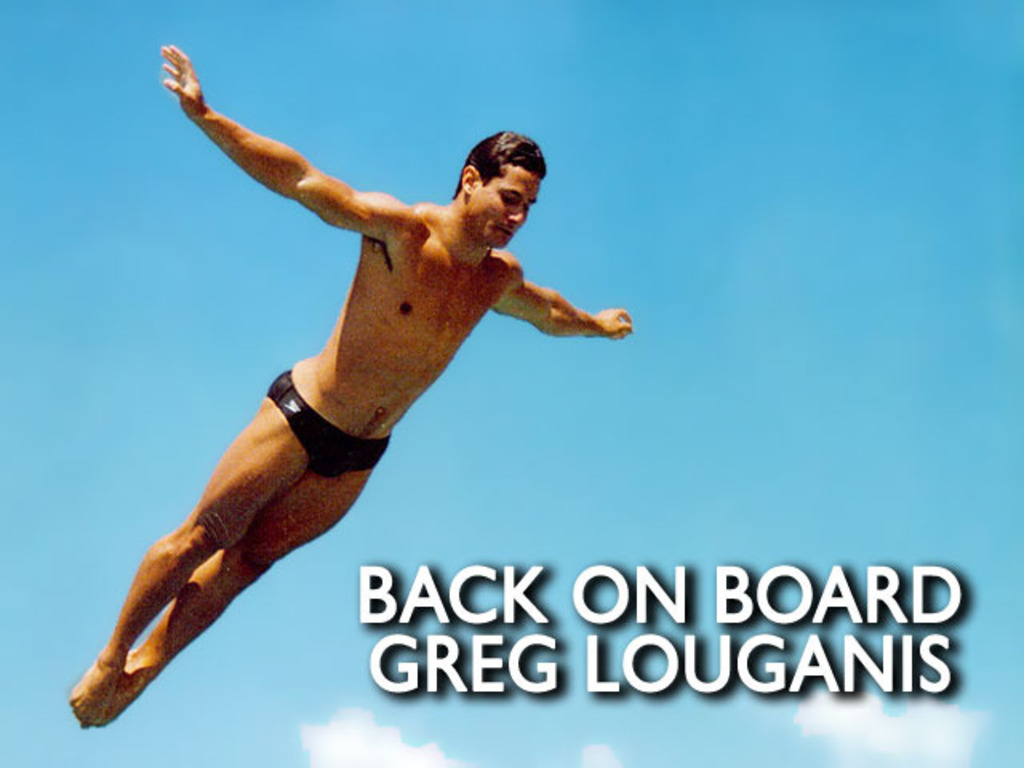 GREG LOUGANIS documentary BACK ON BOARD's video poster