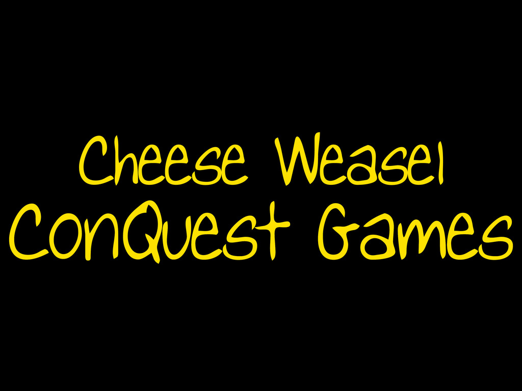 Cheese Weasel ConQuest Game - Pre-Gen Con 2012's video poster