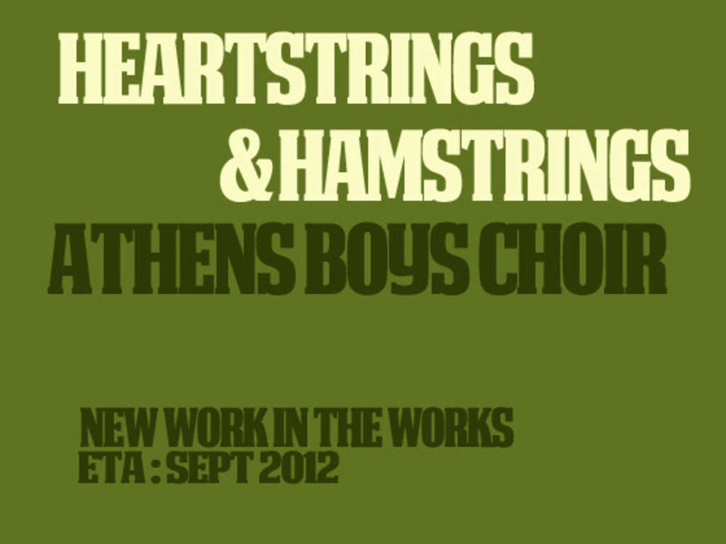 """Athens Boys Choir New CD """"Heartstrings and Hamstrings""""'s video poster"""