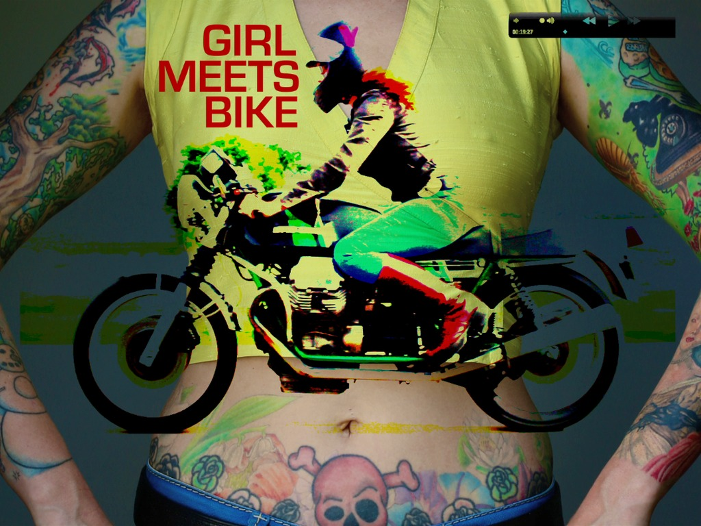 GIRL MEETS BIKE - fiction feature film's video poster