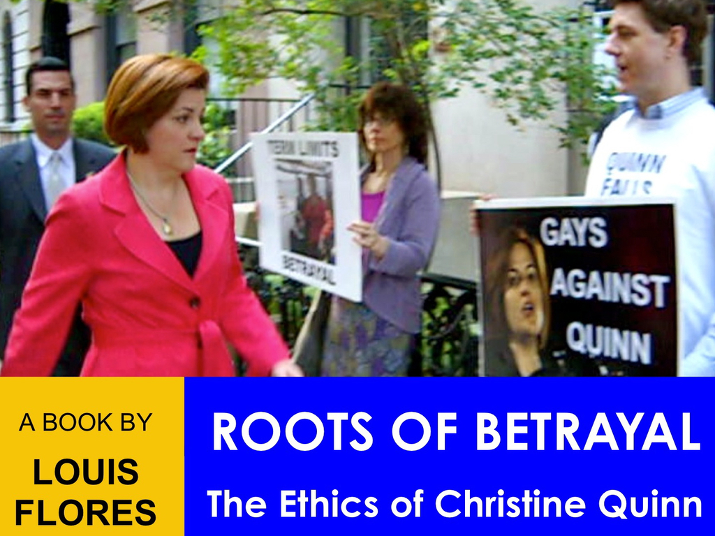 Roots of Betrayal : The Ethics of Christine Quinn's video poster