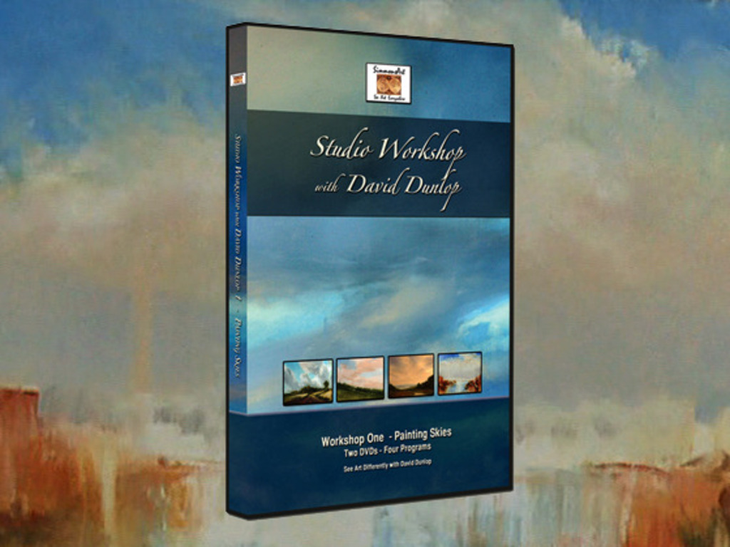 Studio Workshop with David Dunlop DVD - Painting Skies's video poster