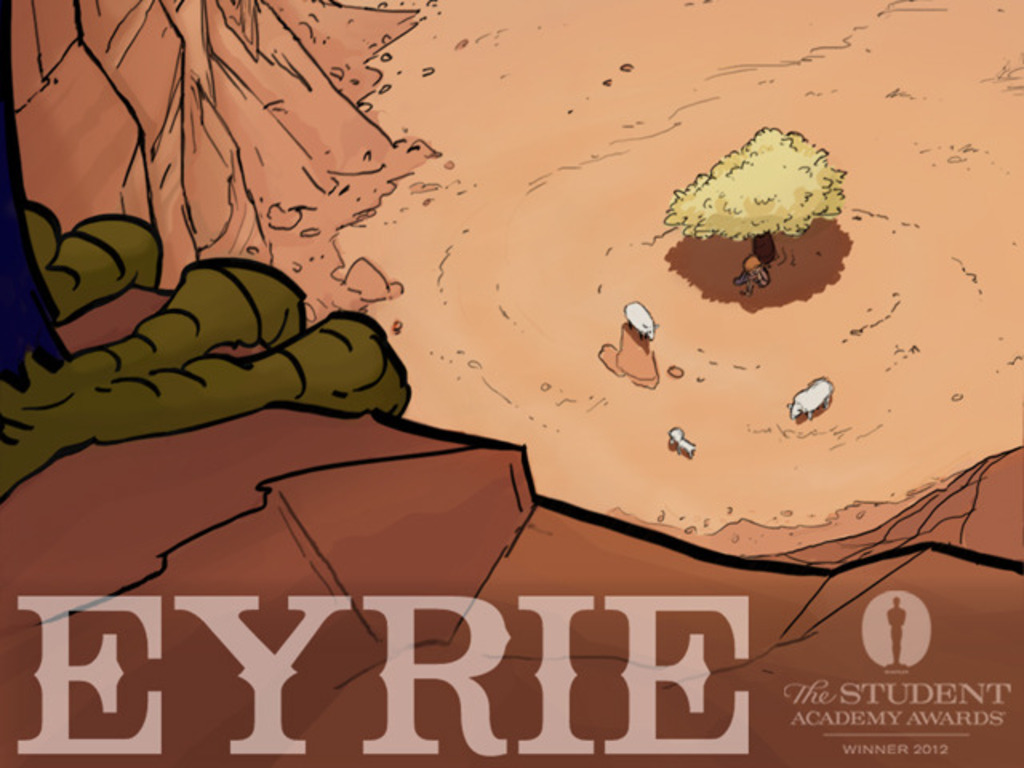 "Limited Edition DVD of award-winning animated short ""Eyrie""'s video poster"