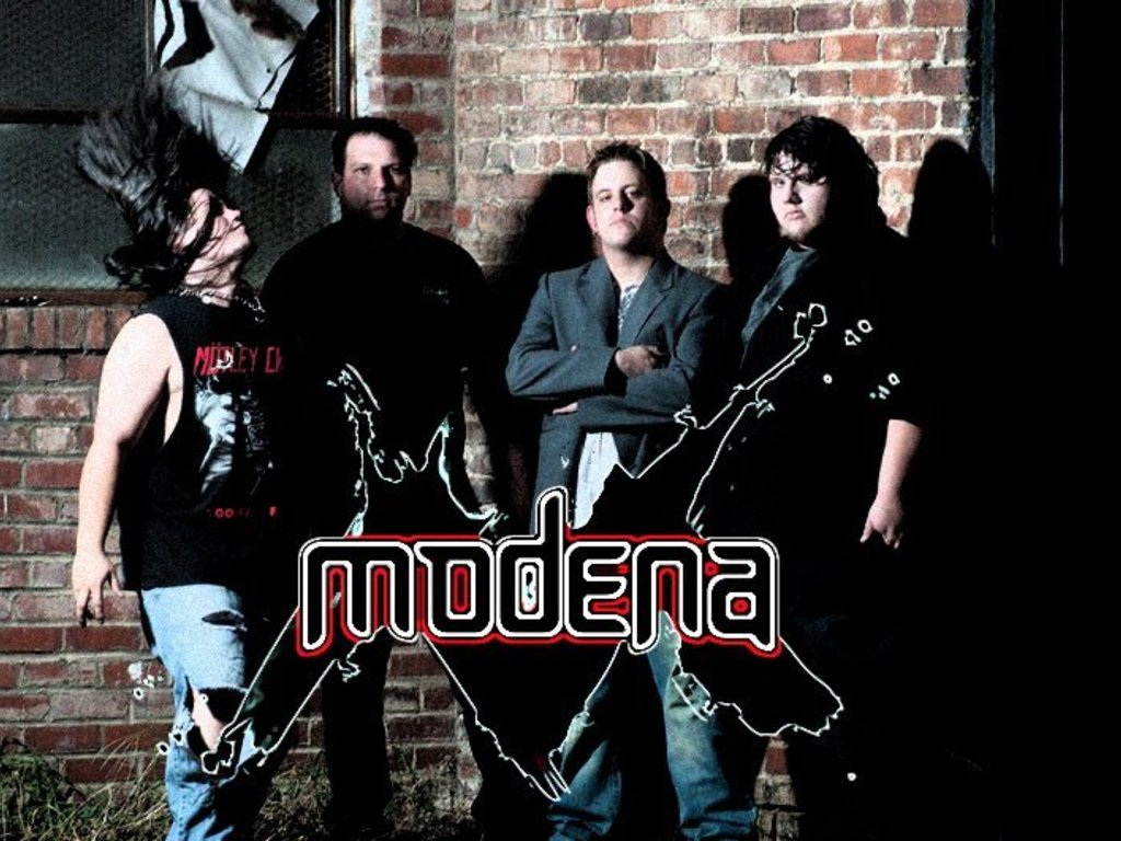 Rock band MODENA's debut album's video poster