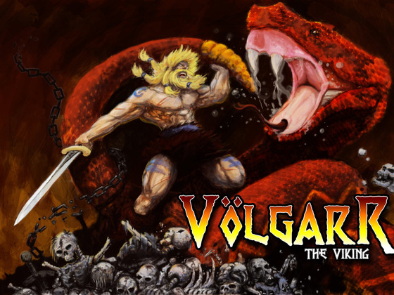 Wicked Snake and Volgarr in promotion Art by Kris Durschmidt