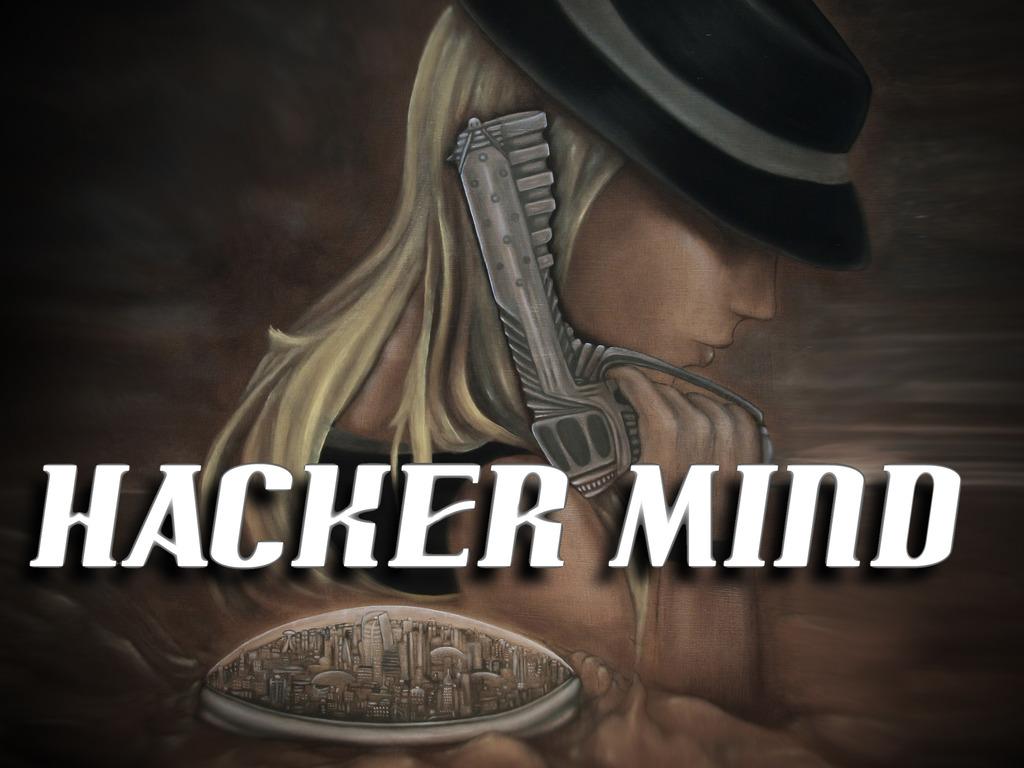 """""""Hacker Mind"""" a futuristic sci-fi anime film's video poster"""