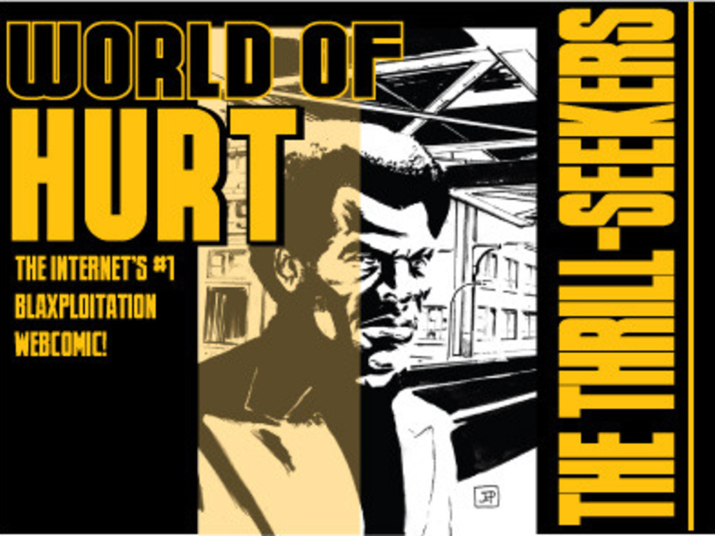 """WORLD OF HURT: """"The Thrill-Seekers"""" Graphic Novel's video poster"""