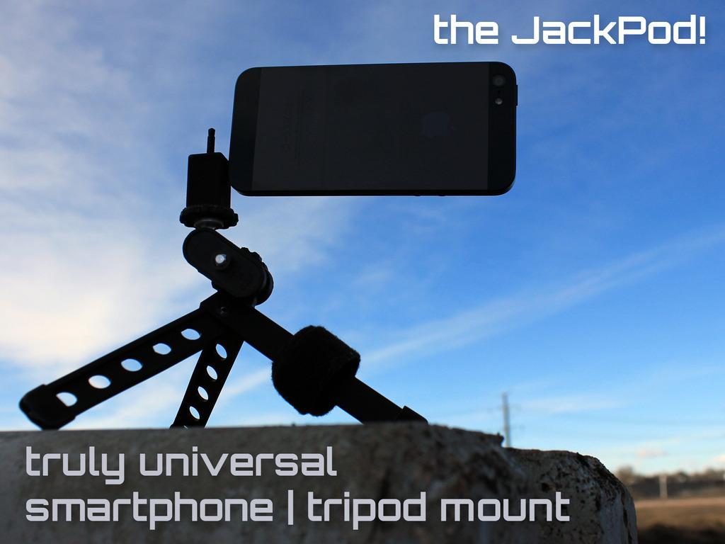 JackPod!  -  Truly Universal Smartphone | Tripod Mount's video poster