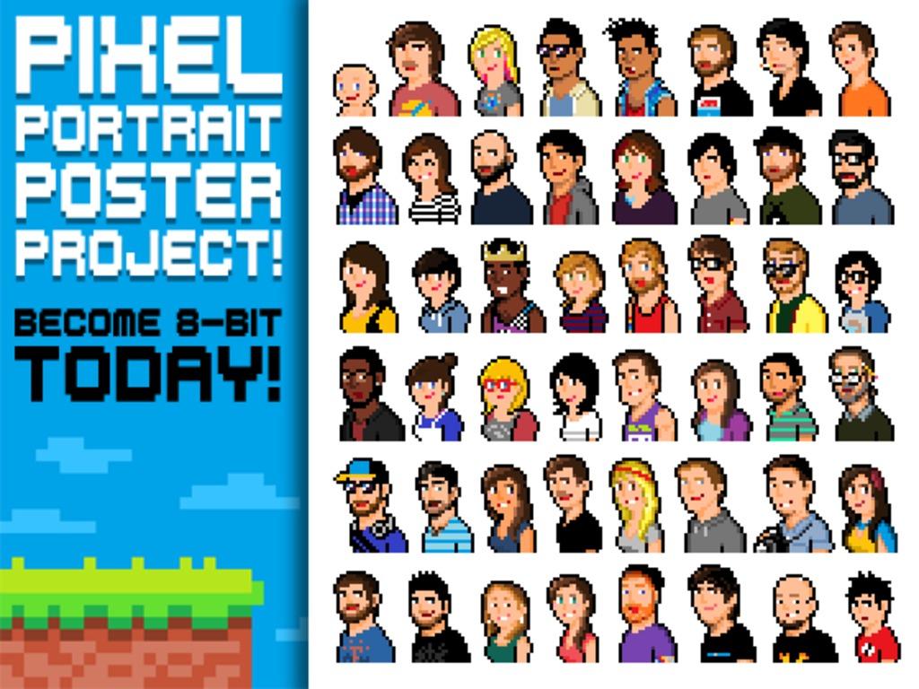 Pixel Portrait Poster Project!'s video poster