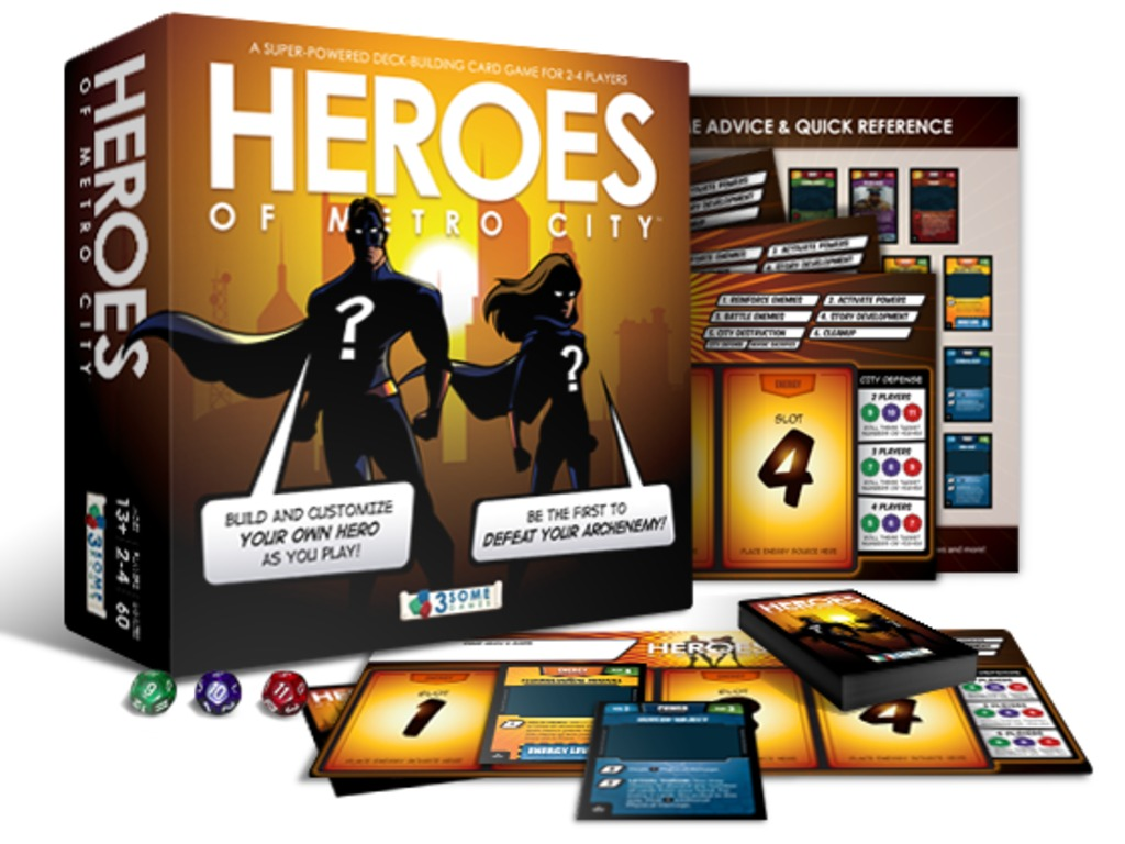 Heroes of Metro City - A Super-Powered Deck Building Game!'s video poster