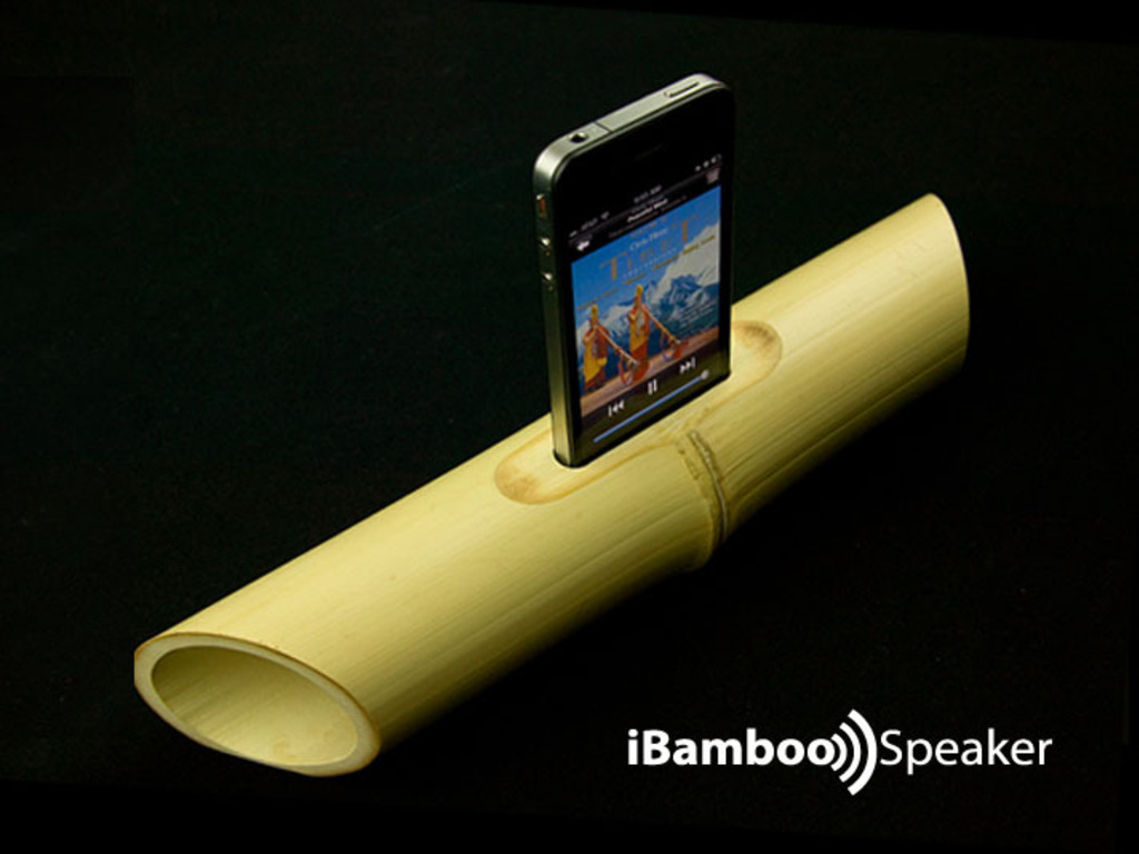 Electricity-free Bamboo Speaker for iPhone 4's video poster