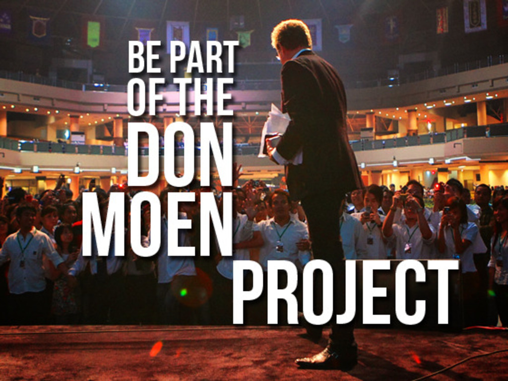 Be Part of Don Moen's New Worship Project's video poster