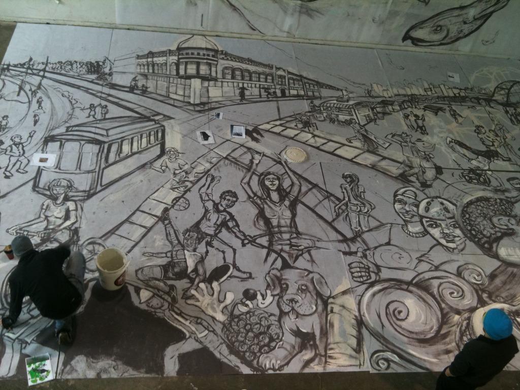 Albina Yard Mural's video poster
