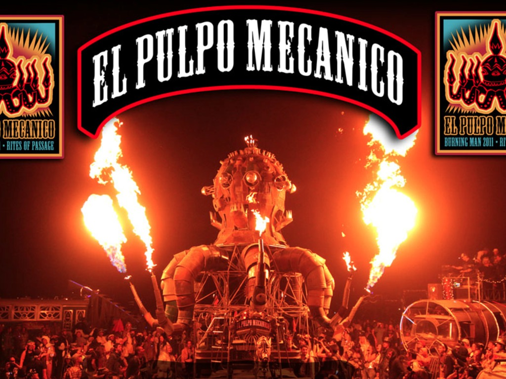 """El Pulpo Mecanico, the giant Flaming Octopus """"Rides Again!""""'s video poster"""