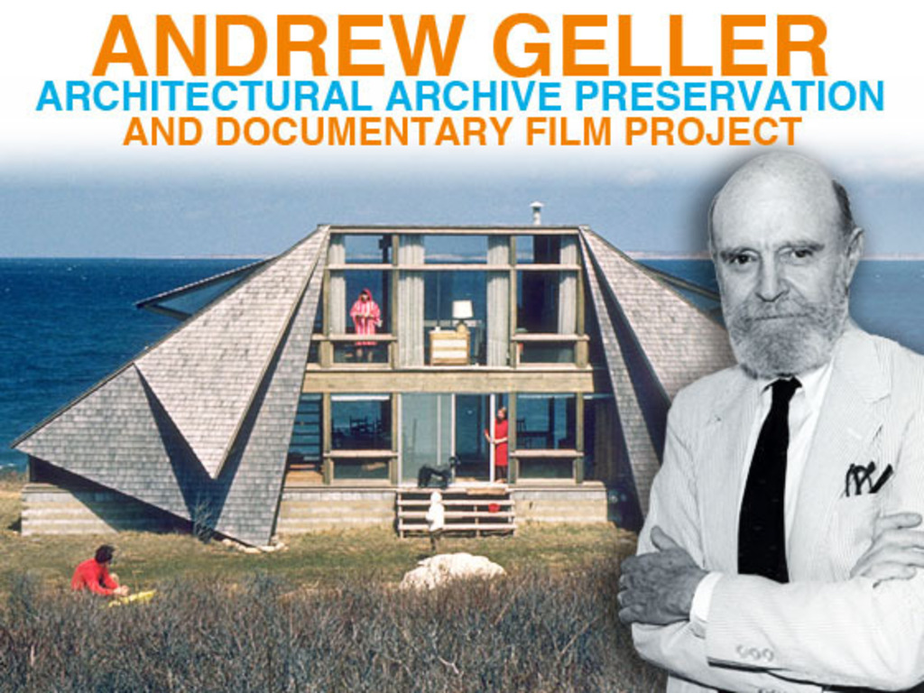 Andrew Geller Architectural Archive Preservation and Film's video poster